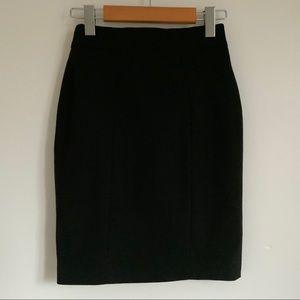 H&M Black Pencil Dress Skirt - Size 2